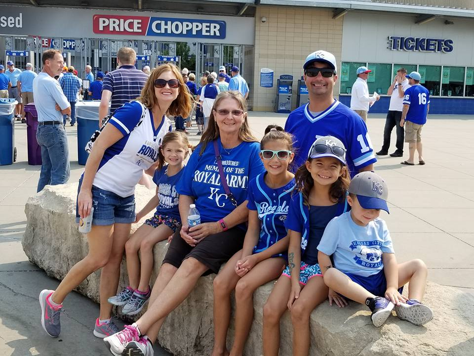 Pedro and his family at Royals game