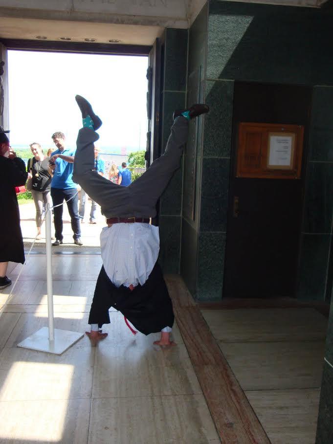 Steven doing a handstand