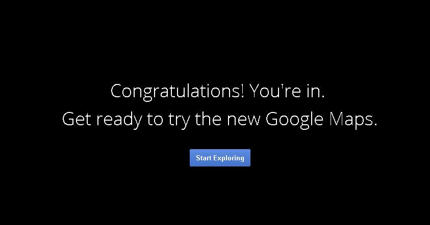 Google Maps Message