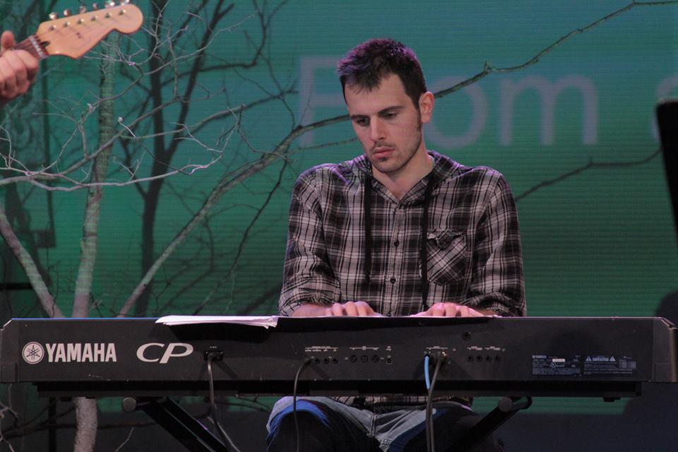 Thomas playing piano