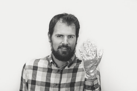 Thomas A with sparkle glove