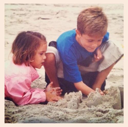 young matt on the beach