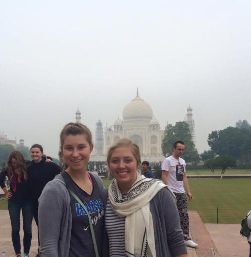Tessa at the Taj Mahal
