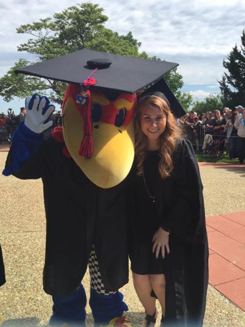 Tessa at KU graduation