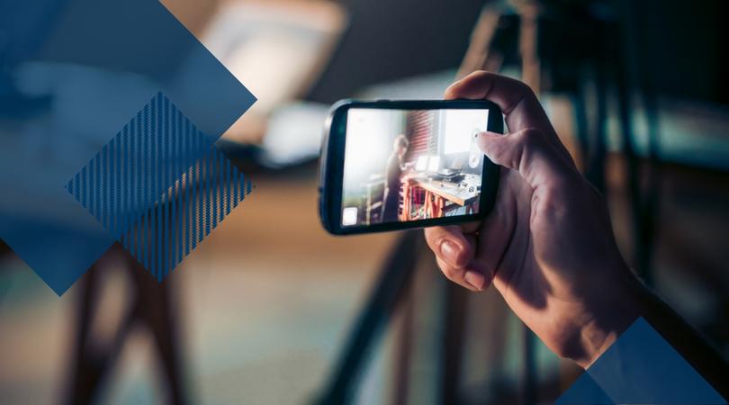 smart phone recording a video