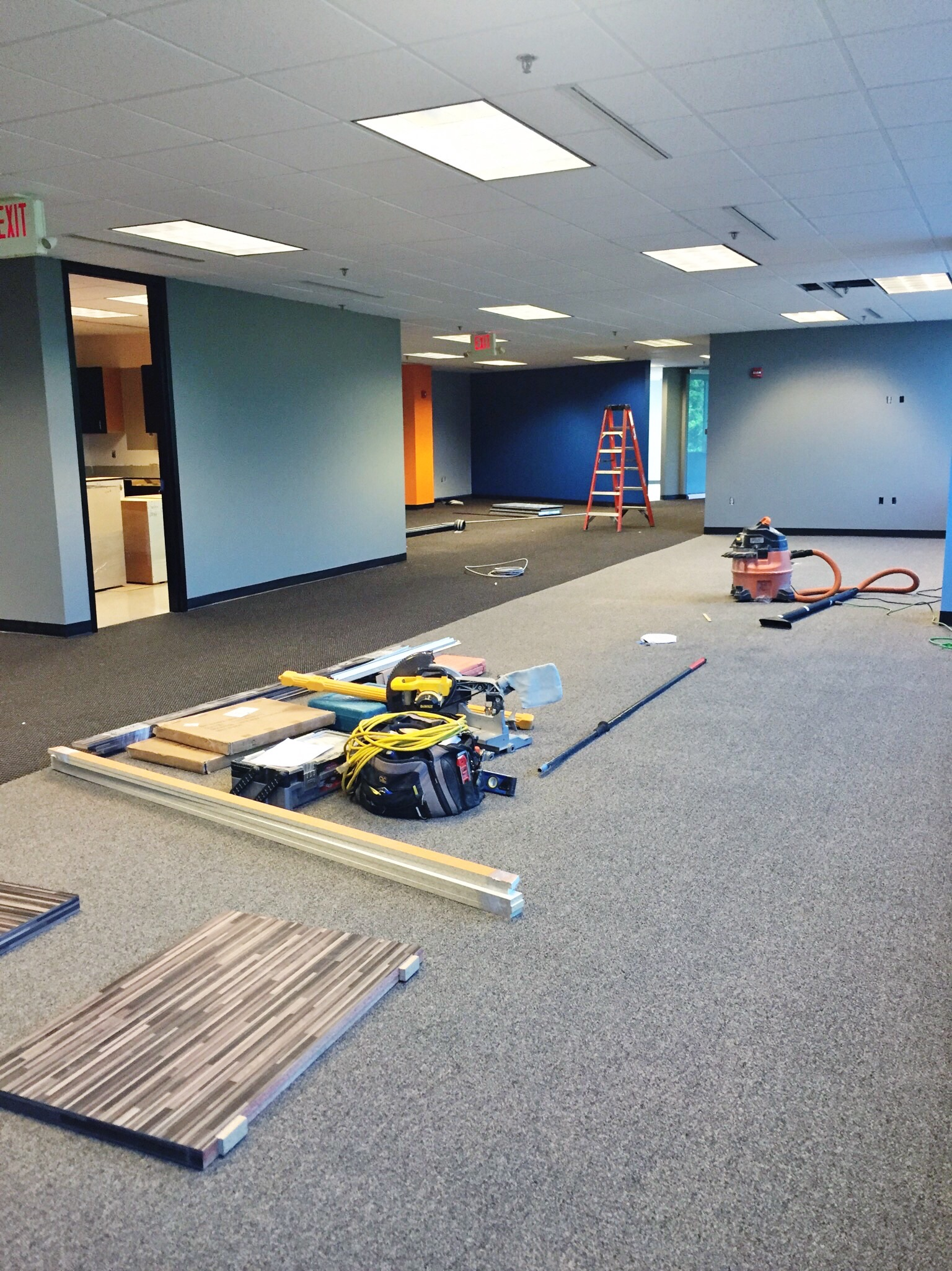 construction in the new Go Local office
