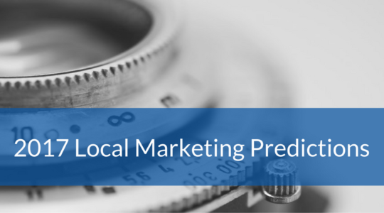 2017 Predictions for Local Marketing via LSA