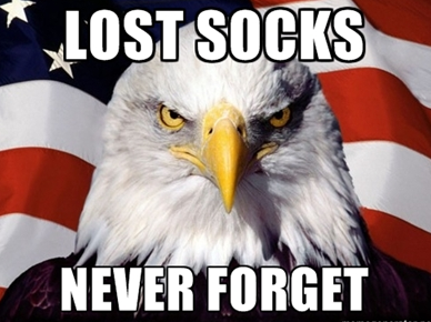 Lost socks, never forget