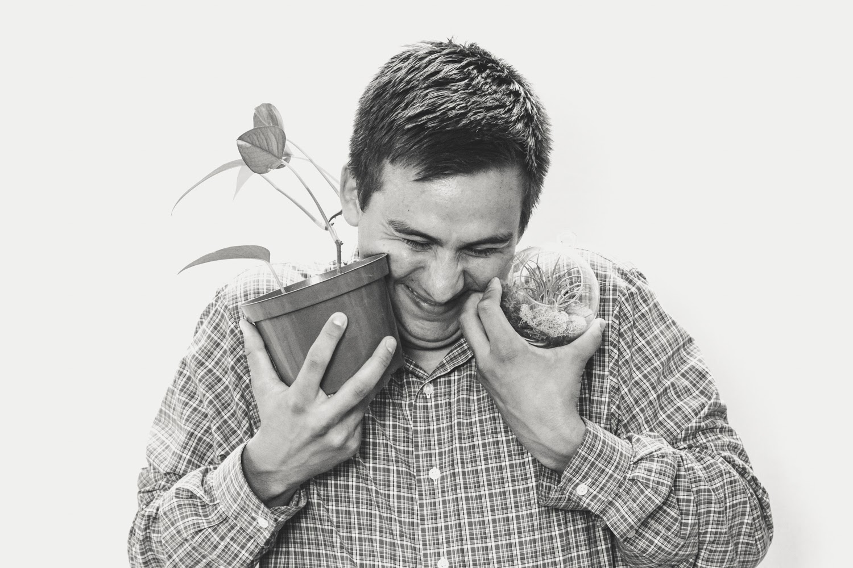 Steven Mott with his plants