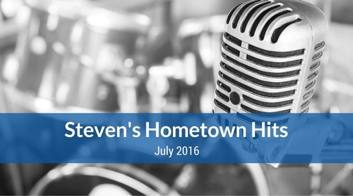 Steven's Hometown Hits - Blog Image
