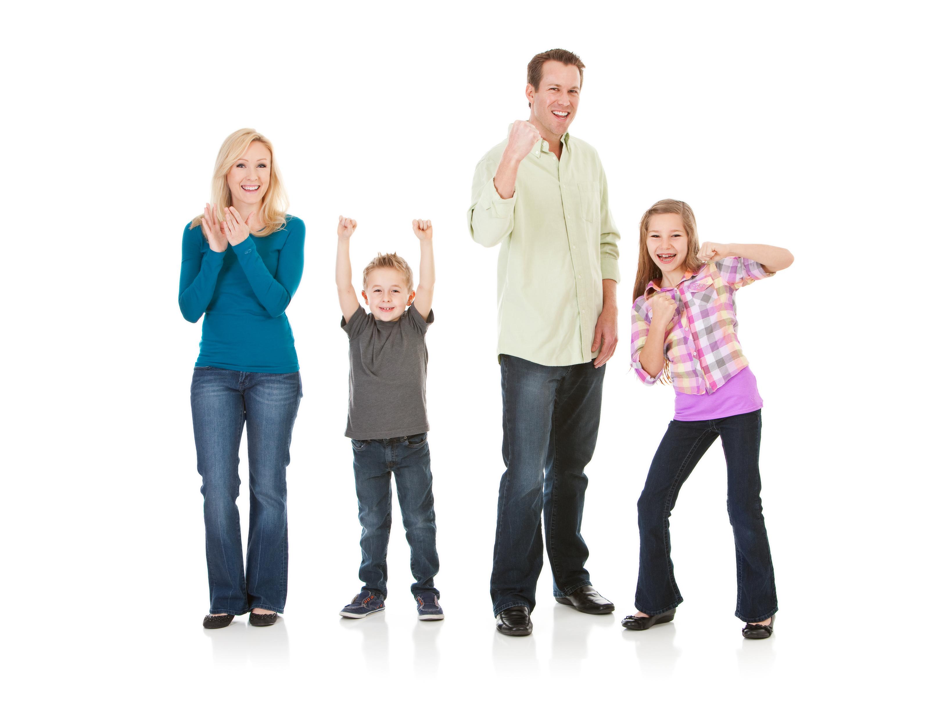 posed stock photo family